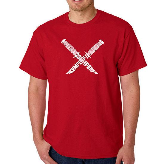 Los Angeles Pop Art-Big and Tall Semper Fi Mens Graphic T-Shirt