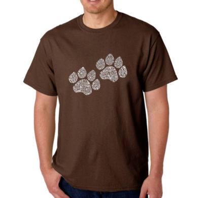 Los Angeles Pop Art Woof Paw Prints Logo Graphic T-Shirt-Big and Tall
