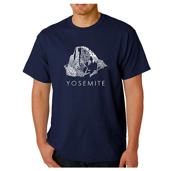 Los Angeles Pop Art Yosemite Mens Graphic T Shirt Big And Tall