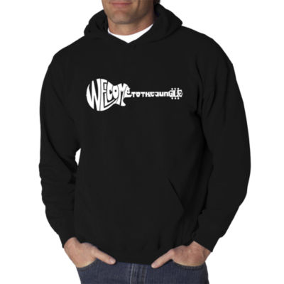 Los Angeles Pop Art Welcome To The Jungle Logo Hoodie -  Men's Big and Tall