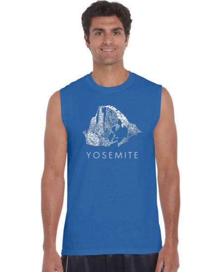 Los Angeles Pop Art Yosemite Tank Top Big and Tall