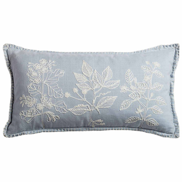 Rizzy Home Jonathan Flora Embroidery Decorative Pillow