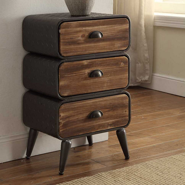 4D Concepts Urban Loft 3 Rounded Drawer Chest