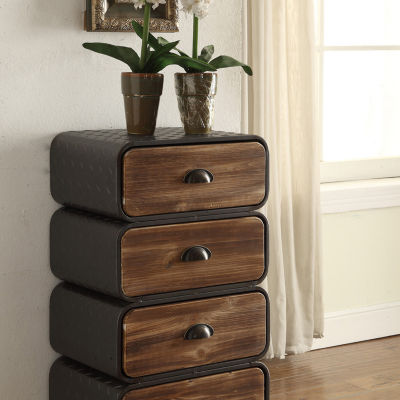 4D Concepts Urban Loft 4 Rounded Drawer Chest