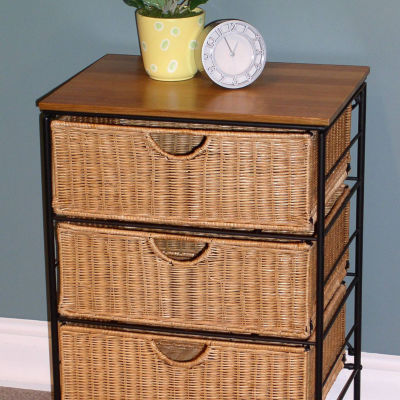 4D Concepts Corona 3 Drawer Wicker