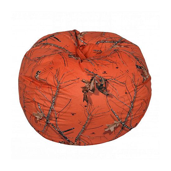 Mossy Oak Orange Bean Bag - Xlarge