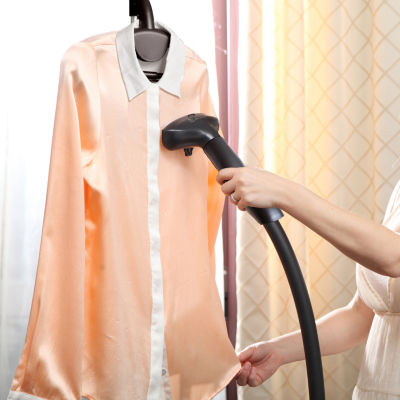 SALAV GS18-DJ/120 Performance Garment Steamer with Folding Adjustable Hanger, Extra Large Water Tank