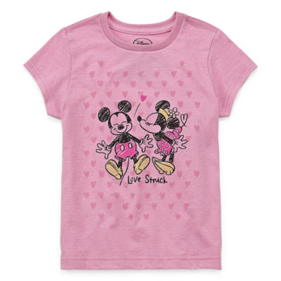 Disney Short Sleeve Minnie Mouse Graphic T-Shirt-Big Kid