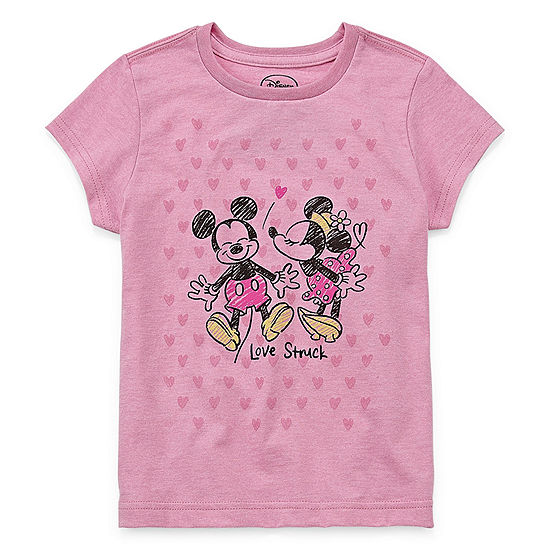 Disney Girls Short Sleeve Minnie Mouse Graphic T Shirt Big Kid