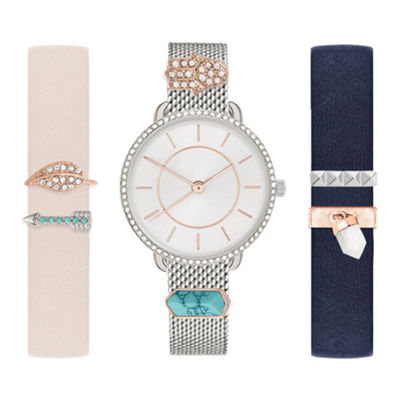 Mixit Womens Multicolor 9-pc. Watch Boxed Set-Jcp2899s569-078