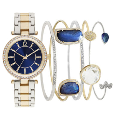 Mixit Womens Two Tone 5-pc. Watch Boxed Set-Jcp2817g569-828