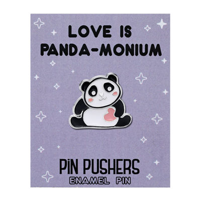 Sparkle Allure Panda Silver Over Brass Pin