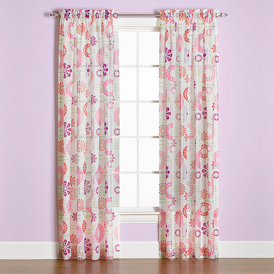Saturday Knight Dream Light-Filtering Rod-Pocket Single Curtain Panel