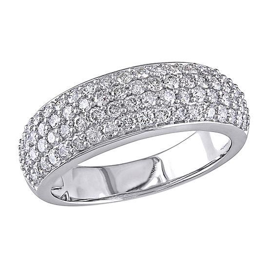 3.5MM 1 CT. T.W. Genuine White Diamond 10K White Gold Eternity Band