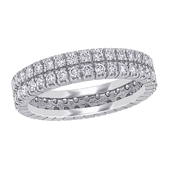 4MM 1 CT. T.W. Genuine White Diamond 14K White Gold Eternity Band
