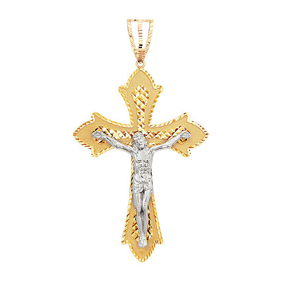 Mens 14K Gold Cross Pendant