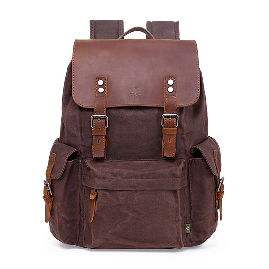 Tsd Brand Stone Creek Waxed Canvas Laptop Backpack