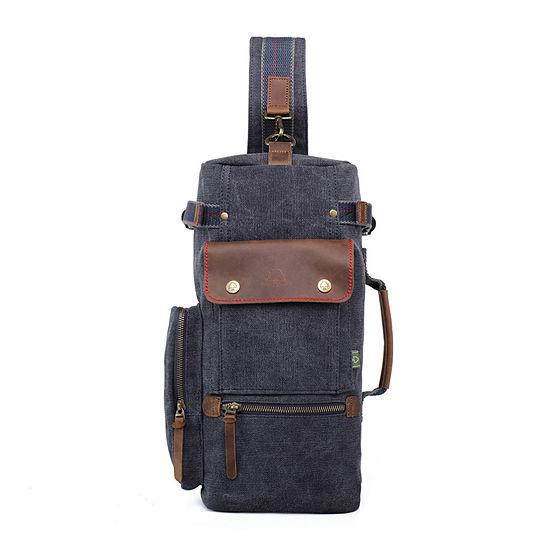 Tsd Brand Hill Side Canvas Sling Bag Backpack