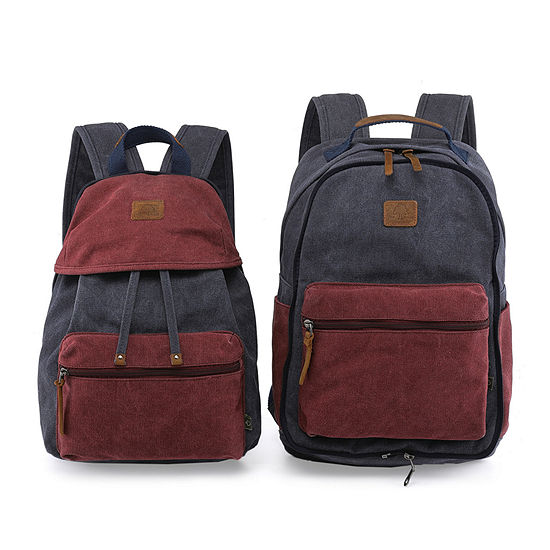 Tsd Brand Trail Tree Double Canvas Laptop Backpack