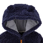 Carter's Baby Boys Sherpa Hooded Lightweight Jacket