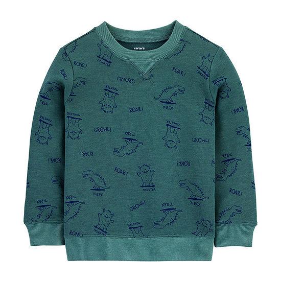 Carter's Toddler Boys Round Neck Long Sleeve Sweatshirt