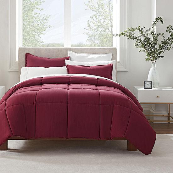 Serta Simply Clean™ All-Season Antimicrobial 3-pc. Comforter Set