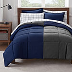 Serta Simply Clean™ Reversible Antimicrobial Complete Bedding Set with Sheets