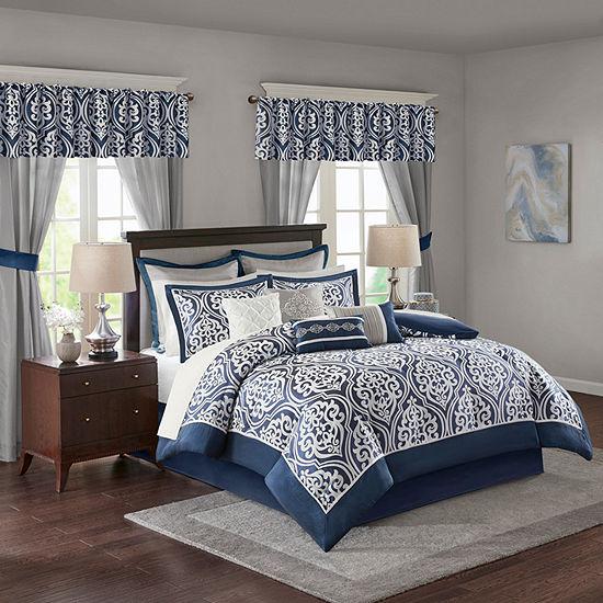 Madison Park Essentials Charley 24-pc. Jacquard Comforter Set