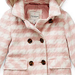 Urban Republic Toddler Girls Hooded Midweight Peacoat