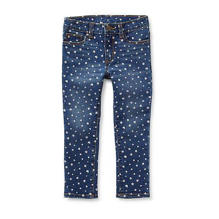 Okie Dokie Toddler Girls Skinny Fit Jean, 3t , Blue