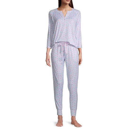 Jaclyn Womens Pant Pajama Set 2-pc. 3/4 Sleeve