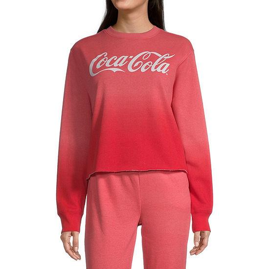 Coca-Cola Juniors Womens Crew Neck Long Sleeve Sweatshirt