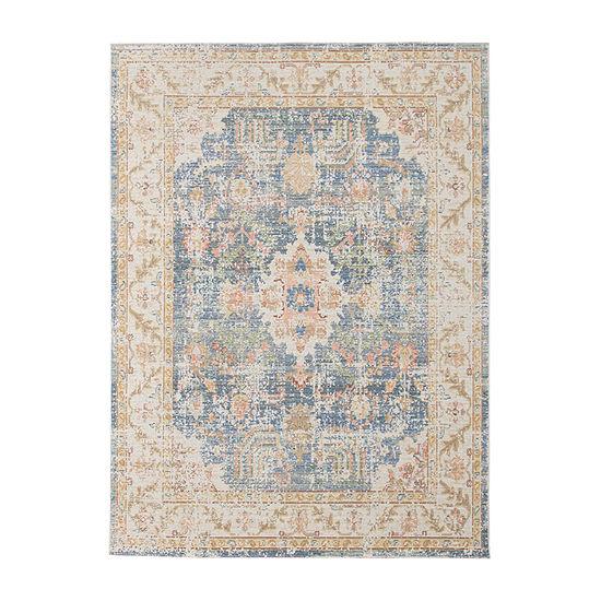Amer Rugs Cienieka Dia Vintage Bordered Rectangular Indoor Rugs