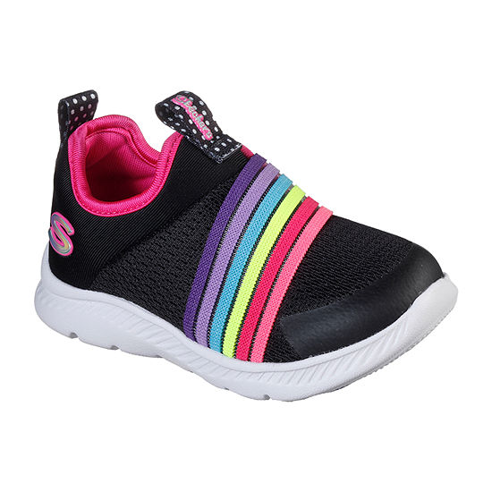 Skechers Comfy Flex 2.0 - Rainbow Frenzy Toddler Girls Sneakers