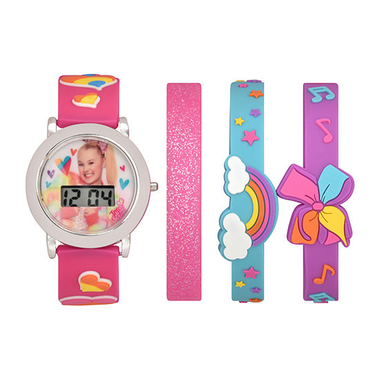 Girls Digital Multicolor 4-pc. Watch Boxed Set-Joj40061jc