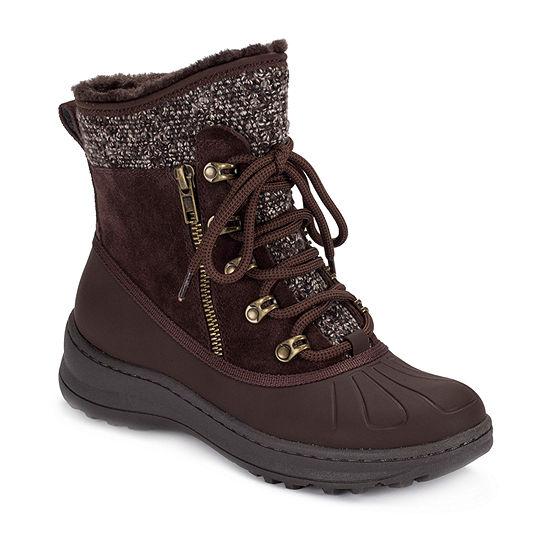 Bare Traps Womens Altessa Winter Flat Heel Boots
