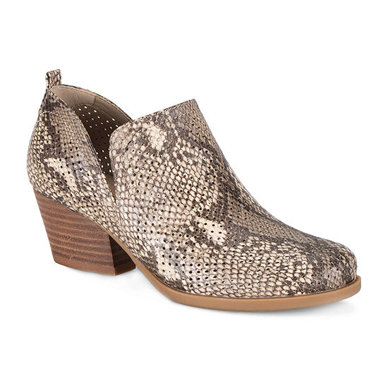 Bare Traps Womens Rizzo Block Heel Booties