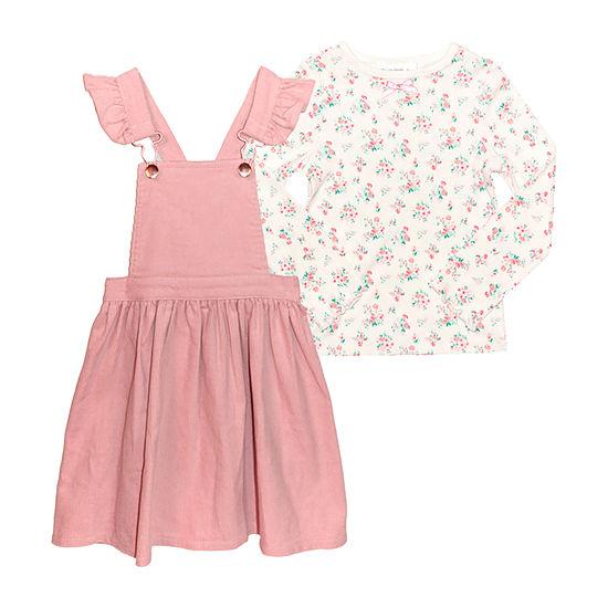 Nannette Baby Toddler Girls Long Sleeve 2-pc. Dress Set