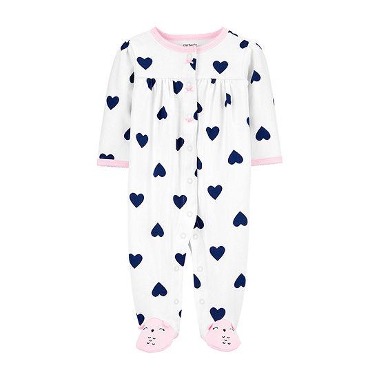 Carter's 2-Way Zipper Baby Girls Sleep and Play