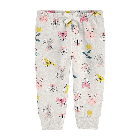 Carter's Baby Girls Cuffed Pull-On Pants