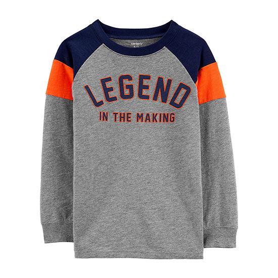 Carter's Little & Big Boys Round Neck Long Sleeve Graphic T-Shirt
