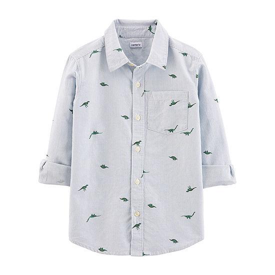 Carter's Little & Big Boys 3/4 Sleeve Button-Down Shirt