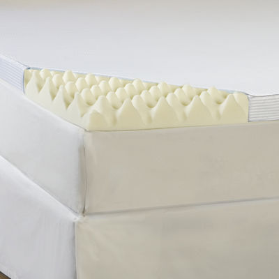 "Comforpedic from Beautyrest® Memory Loft 4"" Foam Mattress Topper With Cover"
