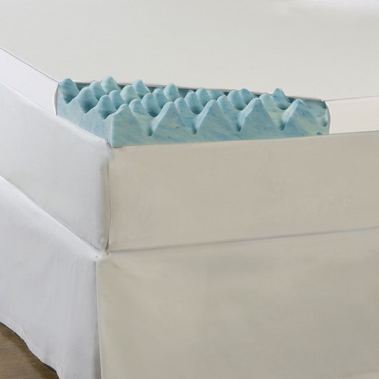 "Comforpedic from Beautyrest® Gel Memory Loft 3"" Foam Mattress Topper With Cover"