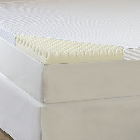 """Comforpedic from Beautyrest® 4"""" Memory Foam Mattress Topper With Cover"""