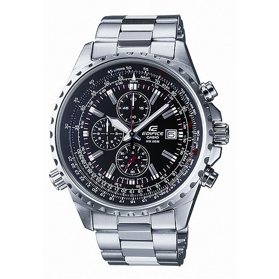 Casio Edifice Mens Chronograph Silver Tone Stainless Steel Bracelet Watch-Ef527d-1av