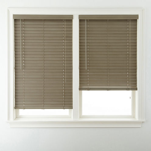 "JCPenney Home™ 2"" Wood Tone Faux-Wood Horizontal Blinds"