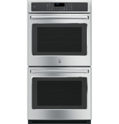 "GE Café ™ 27"" Double Electric Wall Oven Self Cleaning With Convection"