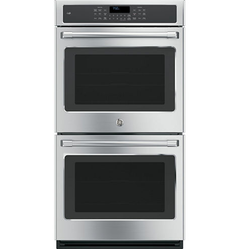 """GE Café ™ 27"""" Double Electric Wall Oven Self Cleaning With Convection"""