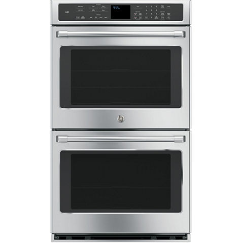 """GE Café ™ 30"""" Double Electric Wall Oven Self Cleaning With Convection"""